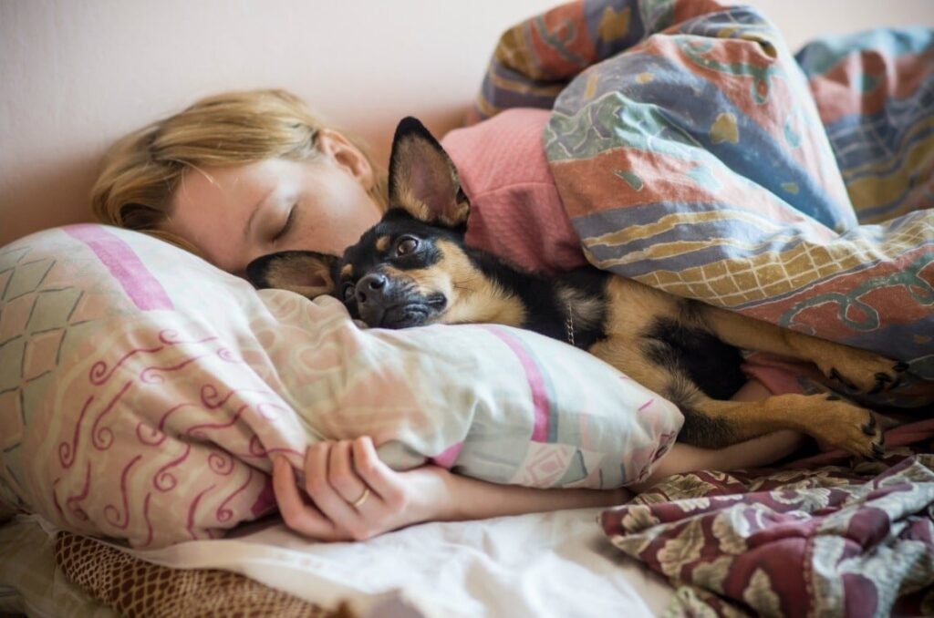 Κοιμάστε με το σκύλο σας; Αυτά είναι τα οφέλη για την υγεία σας