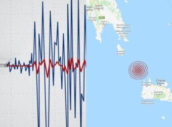 Σεισμός στα Αντικύθηρα: Σεισμική δόνηση 3,8 Ρίχτερ έλαβε χώρα στα Επτάνησα